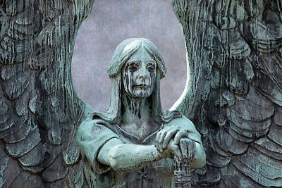 Photograph - Haserot Weeping Angel by Dale Kincaid