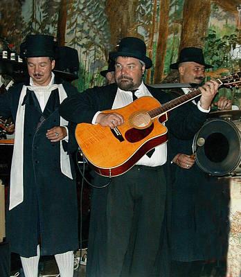 Hasidic Jews In Crakow Poland Art Print by Bill Marder