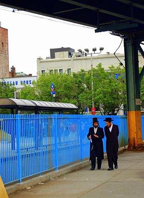 Hasidic Jews In New York Art Print by Heart On Sleeve ART