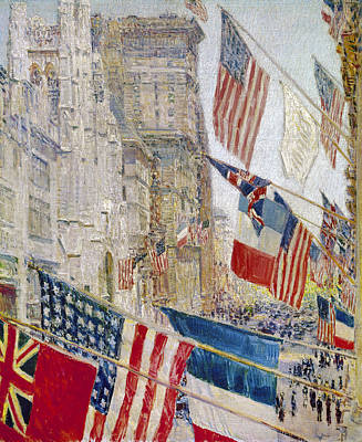 Photograph - Hassam: Allies Day, May 1917 by Granger
