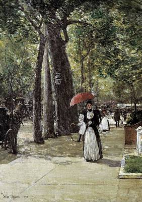 Childe Photograph - Hassam, Childe 1859-1935. Fifth Avenue by Everett