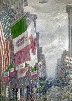 Childe Photograph - Hassam: Italian Day, 1918 by Granger