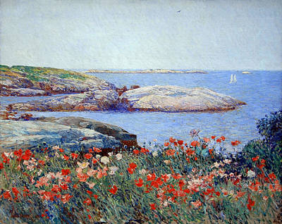 Hassam's Poppies On The Isles Of Shoals Art Print by Cora Wandel