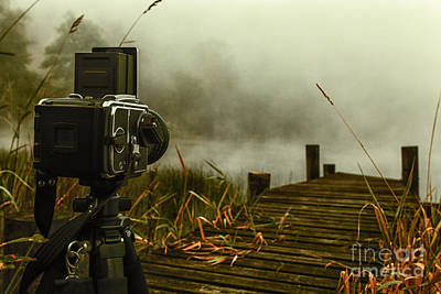 Old Style Photograph - hasselblad on Loch ard by John Farnan