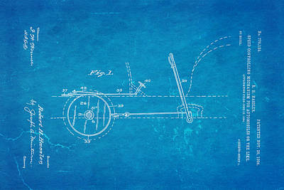 1904 Photograph - Hassler Automobile Speed Control Patent Art 1904 Blueprint by Ian Monk