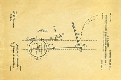 1904 Photograph - Hassler Automobile Speed Control Patent Art 1904 by Ian Monk