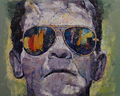Manga Painting - Frankenstein by Michael Creese