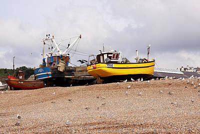 Hastings Fishing Boats Art Print