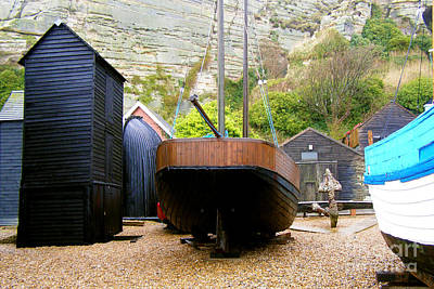 Photograph - Hastings Stade Net Sheds by Terri Waters
