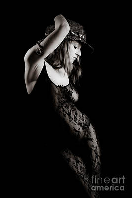 Provocative Photograph - Hat And Black Lace by Jt PhotoDesign