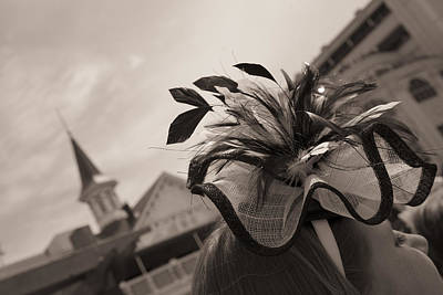 Hat And Twin Spire Black And White Art Print