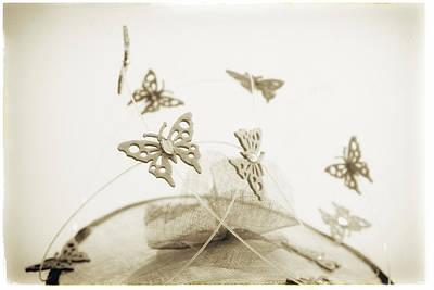 Photograph - Fashion Art - Butterfly Swirl Hat By Jo Ann Tomaselli by Jo Ann Tomaselli