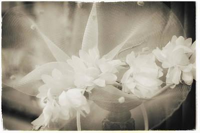 Photograph - Fashion Art - Net Flower Hat By Jo Ann Tomaselli by Jo Ann Tomaselli