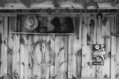 Photograph - Hat Boots And Lariat by Ron White