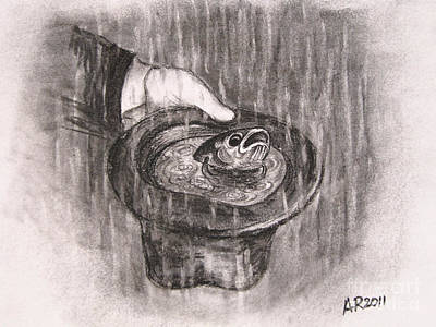 Drawing Drawing - Hatful Of Rain by A R
