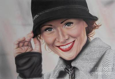 Airbrush Painting - Hat by Jackie Mestrom