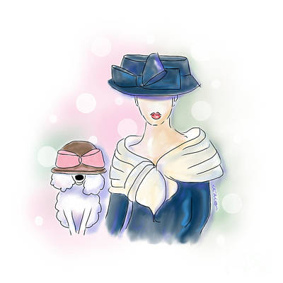 Mixed Media - Hat Lovers by Catia Cho