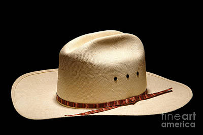 Stetson Photograph - Hat On Black by Olivier Le Queinec