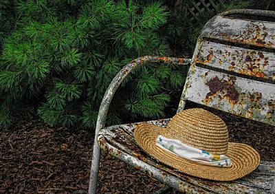 Hat On Chair1 Print by Tom  Reed