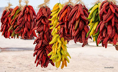 Photograph - Hatch Chile Festival - Ristras by Allen Sheffield