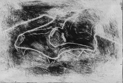 Andrew Martin Mixed Media - Hatching The Skull by Andrew Martin