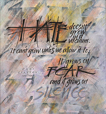 Hate Doesn't Grow In A Vacuum Art Print