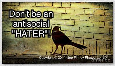 Photograph - Haters Hate - No.1977 by Joe Finney
