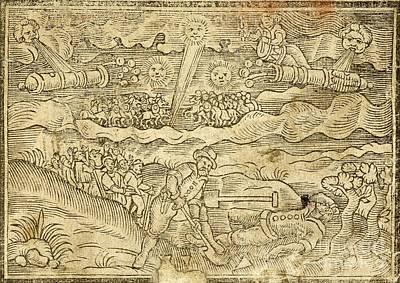 Hatford Meteorite Fall, 1628 Art Print by British Library
