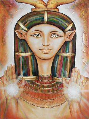 Painting - Hathor Rendition by Robyn Chance