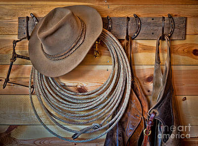 Cowboy Hat Photograph - Hats And Chaps by Inge Johnsson