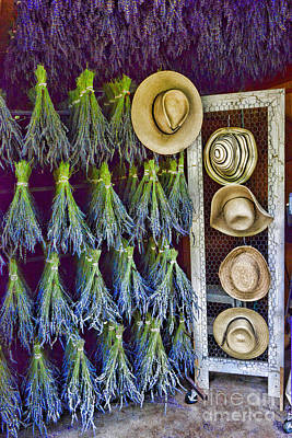 Potpourri Photograph - Hats And Lavender by Paul Ward