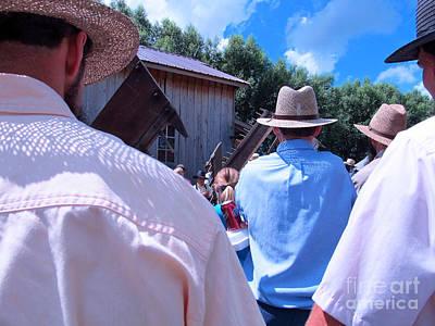 Mennonite Community Photograph - Hats And Shirts by Tina M Wenger