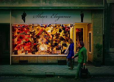 Christmas Photograph - Hats At Sheer Elegance In Maastricht by Nop Briex