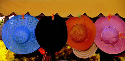 Art Print featuring the photograph Hats Of Many Colors by Caroline Stella