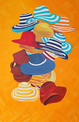 Mixed Media - Hats Off by Deborah Boyd