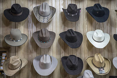 Photograph - Hats On Nashville Wall In Color by John McGraw