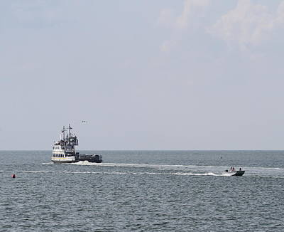 Ferry Photograph - Hatteras Ferry And Boat by Cathy Lindsey