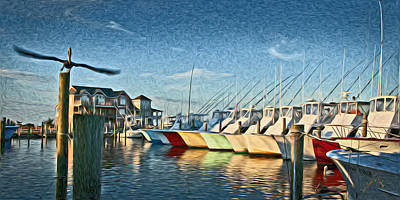 Photograph - Hatteras Harbor Marina by Williams-Cairns Photography LLC
