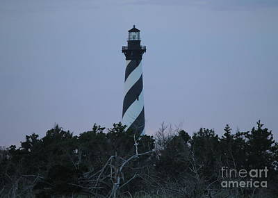 Landmarks Royalty Free Images - Hatteras Light Sunset 2 Royalty-Free Image by Cathy Lindsey