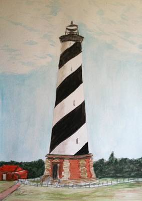 Lighthouse Drawing - Hatteras Lighthouse by Asuncion Purnell