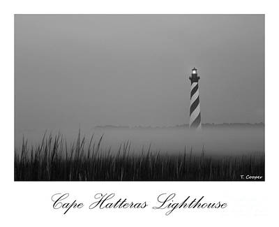 Lighthouse Photograph - Hatteras Lighthouse In The Fog by Tony Cooper