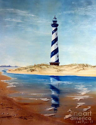 Art Print featuring the painting Hatteras Lighthouse by Lee Piper