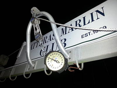 Hatteras Island Photograph - Hatteras Marlin Club Scales by Karen Rhodes