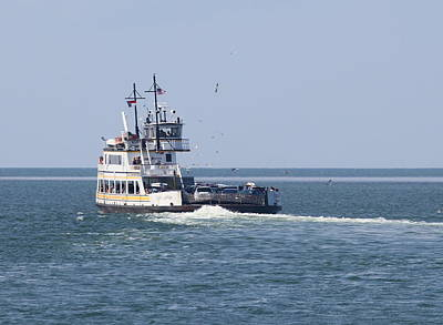 Gull Photograph - Hatteras-ocracoke Ferry 8 by Cathy Lindsey