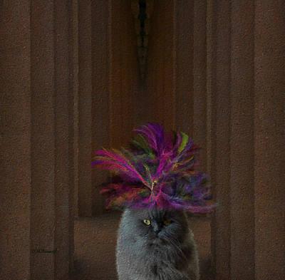 Congressman Digital Art - Hattie Mcfluffy Goes To Washington by Diane Parnell