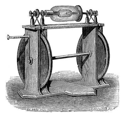 Hauksbee Electrostatic Generator Art Print by Science Photo Library