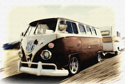 Photograph - Haulin Bus by Steve McKinzie