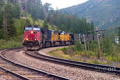 Steven Krull Royalty-Free and Rights-Managed Images - Hauling Coal by Steven Krull