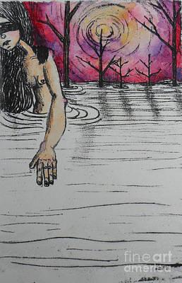 Printmaking Mixed Media - Haunted 2 by Anais Hernandez
