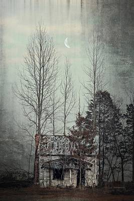 Photograph - Haunted Between The Trees by Emily Stauring